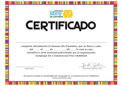 Certificate (Spanish)