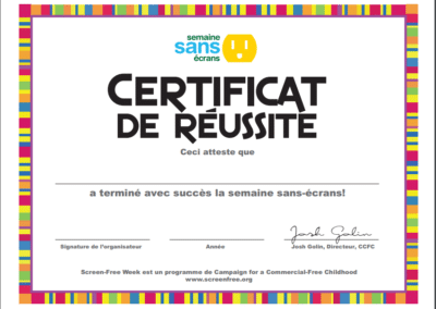 Certificate (French)