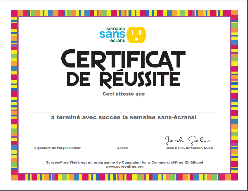 Certificate (French) 🖨