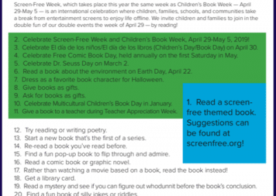 100 Screen-Free, Reading-Related Activities
