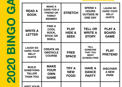 Screen-Free BINGO