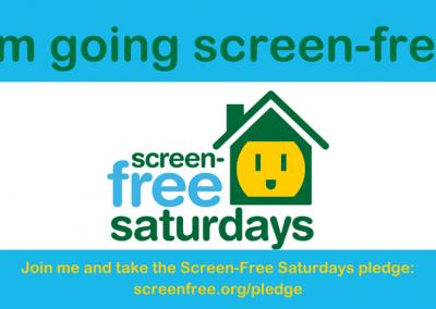 "Social Share Banner: ""I'm Going Screen-Free"""